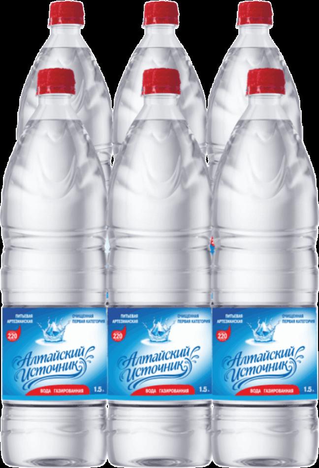 Вода питьевая «Алтайский источник» газированная