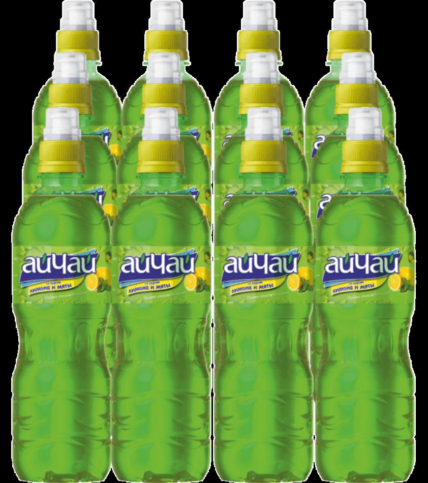 Напиток безалкогольный Зеленый чай со вкусом лимона и мяты